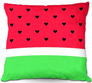 Decorative Outdoor Patio Pillow Cushion | Organic Saturation - I Love Watermelon