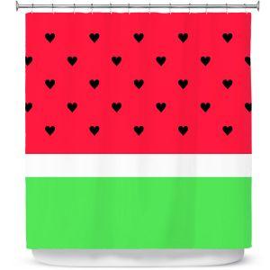 Premium Shower Curtains | Organic Saturation I Love Watermelon