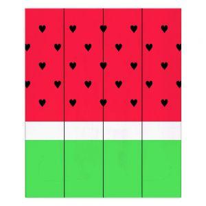 Decorative Wood Plank Wall Art | Organic Saturation I Love Watermelon