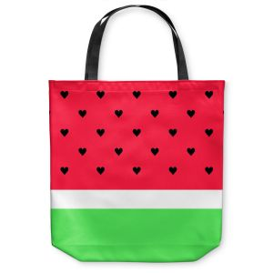 Unique Shoulder Bag Tote Bags | Organic Saturation I Love Watermelon