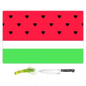 Artistic Kitchen Bar Cutting Boards | Organic Saturation - I Love Watermelon