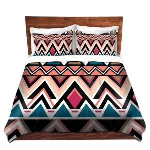 Artistic Duvet Covers and Shams Bedding | Organic Saturation - Mountain Nativo Tribal