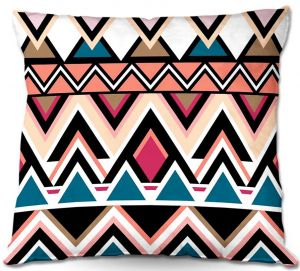 Decorative Outdoor Patio Pillow Cushion | Organic Saturation - Mountain Nativo Tribal