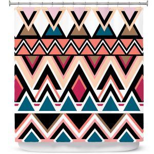 Premium Shower Curtains | Organic Saturation Mountain Nativo Tribal