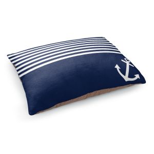 Decorative Dog Pet Beds | Organic Saturation's Navy Blue Love Anchor Nautical