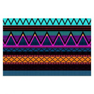Decorative Floor Coverings | Organic Saturation Neon Modern Tribal