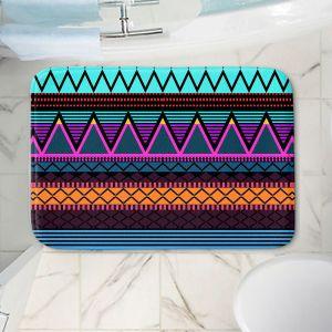 Decorative Bathroom Mats | Organic Saturation - Neon Modern Tribal