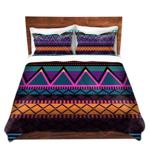 Artistic Duvet Covers and Shams Bedding   Organic Saturation - Neon Modern Tribal