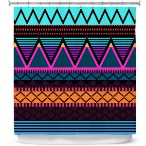 Premium Shower Curtains | Organic Saturation Neon Modern Tribal