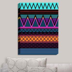 Decorative Canvas Wall Art | Organic Saturation - Neon Modern Tribal
