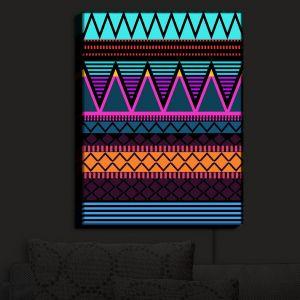 Nightlight Sconce Canvas Light | Organic Saturation - Neon Modern Tribal