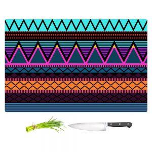 Artistic Kitchen Bar Cutting Boards | Organic Saturation - Neon Modern Tribal