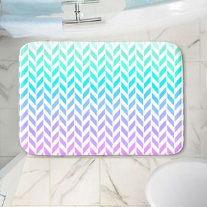Decorative Bathroom Mats   Organic Saturation - Ombre Herringbone Pattern