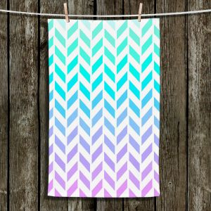 Unique Hanging Tea Towels | Organic Saturation - Ombre Herringbone Pattern | Abstract Patterns