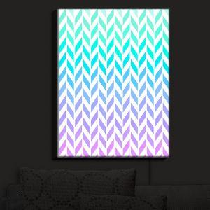 Nightlight Sconce Canvas Light | Organic Saturation - Ombre Herringbone Pattern