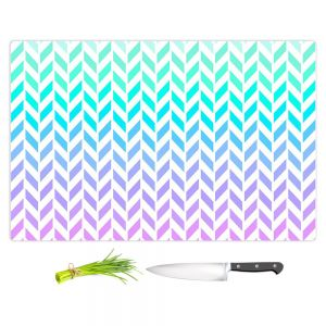 Artistic Kitchen Bar Cutting Boards | Organic Saturation - Ombre Herringbone Pattern