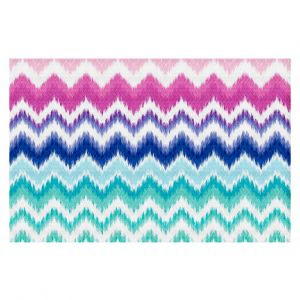 Decorative Floor Coverings | Organic Saturation Ombre Ikat Chevron