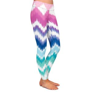 Casual Comfortable Leggings | Organic Saturation Ombre Ikat Chevron