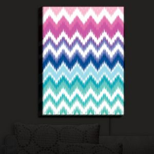 Nightlight Sconce Canvas Light | Organic Saturation - Ombre Ikat Chevron