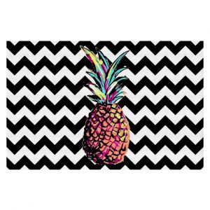 Decorative Floor Coverings | Organic Saturation Party Pineapple Chevron