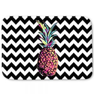 Decorative Bathroom Mats | Organic Saturation - Party Pineapple Chevron