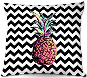 Throw Pillows Decorative Artistic | Organic Saturation's Party Pineapple Chevron