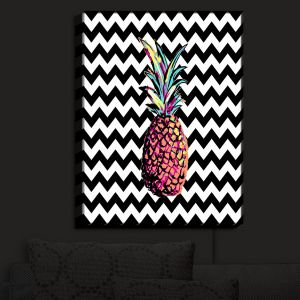 Nightlight Sconce Canvas Light | Organic Saturation - Party Pineapple Chevron