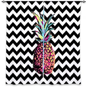 Decorative Window Treatments | Organic Saturation Party Pineapple Chevron