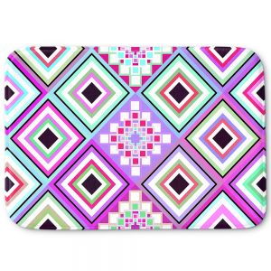 Decorative Bathroom Mats | Organic Saturation - Pastel Native Inspired