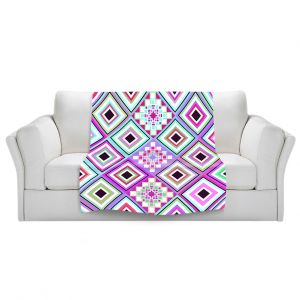 Artistic Sherpa Pile Blankets | Organic Saturation Pastel Native Inspired