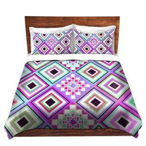 Artistic Duvet Covers and Shams Bedding | Organic Saturation - Pastel Native Inspired