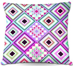 Decorative Outdoor Patio Pillow Cushion | Organic Saturation - Pastel Native Inspired