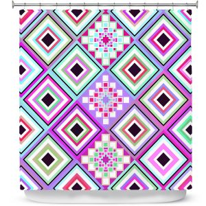 Premium Shower Curtains | Organic Saturation Pastel Native Inspired