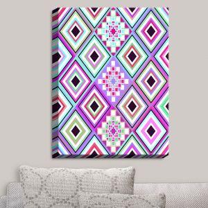 Decorative Canvas Wall Art   Organic Saturation - Pastel Native Inspired