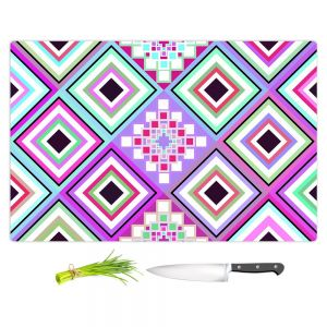 Artistic Kitchen Bar Cutting Boards | Organic Saturation - Pastel Native Inspired