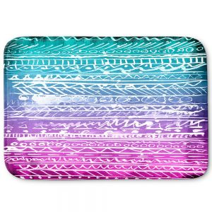 Decorative Bathroom Mats | Organic Saturation - Pastel Ombre Aztec