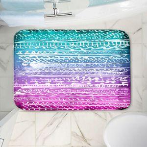 Decorative Bathroom Mats | Organic Saturation - Pastel Ombre Aztec