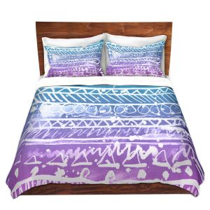 Artistic Duvet Covers and Shams Bedding | Organic Saturation - Pastel Ombre Aztec