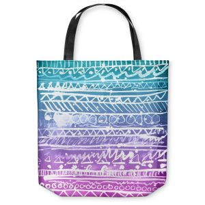 Unique Shoulder Bag Tote Bags | Organic Saturation Pastel Ombre Aztec