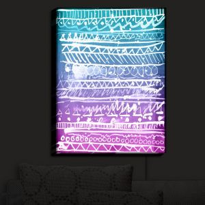 Nightlight Sconce Canvas Light | Organic Saturation - Pastel Ombre Aztec