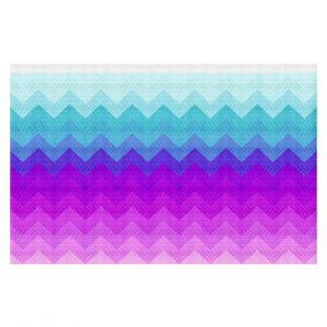 Decorative Floor Coverings | Organic Saturation Pastel Ombre Chevron