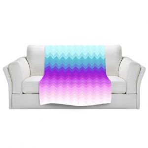 Artistic Sherpa Pile Blankets   Organic Saturation Pastel Ombre Chevron