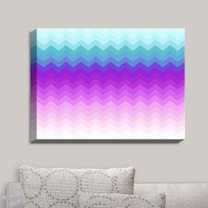 Decorative Canvas Wall Art | Organic Saturation - Pastel Ombre Chevron
