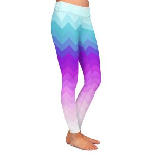 Casual Comfortable Leggings | Organic Saturation Pastel Ombre Chevron