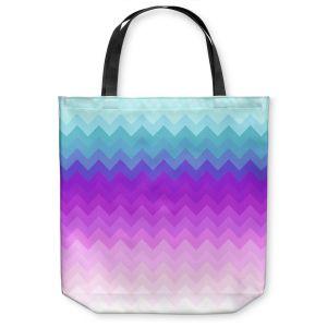 Unique Shoulder Bag Tote Bags | Organic Saturation Pastel Ombre Chevron