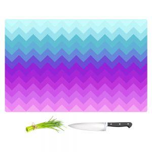 Artistic Kitchen Bar Cutting Boards | Organic Saturation - Pastel Ombre Chevron