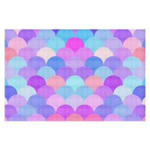 Decorative Area Rug 4 x 6 Ft from DiaNoche Designs by Organic Saturation - Pastel Scales Pattern