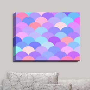 Decorative Canvas Wall Art   Organic Saturation - Pastel Scales Pattern