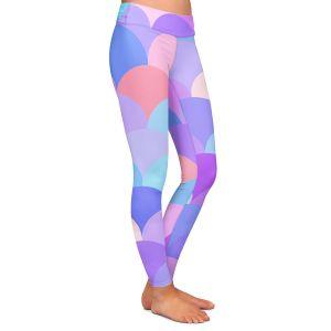 Casual Comfortable Leggings | Organic Saturation Pastel Scales Pattern