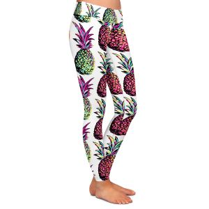 Casual Comfortable Leggings | Organic Saturation Pineapple Party